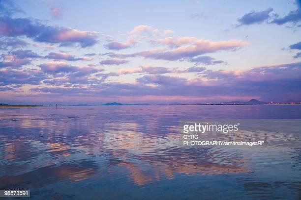 Lake Biwa at sunset, Otsu, Shiga Prefecture, Japan