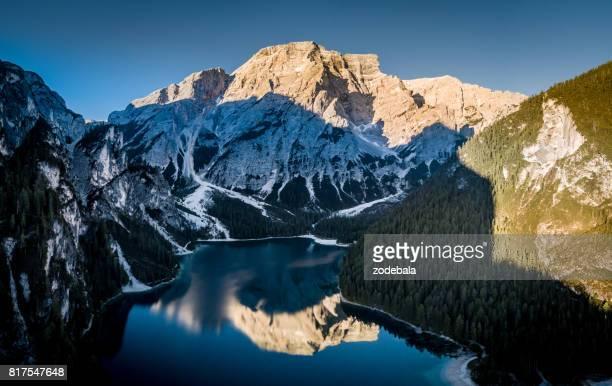 Lake Braies at Sunrise, Dolomies, Italy