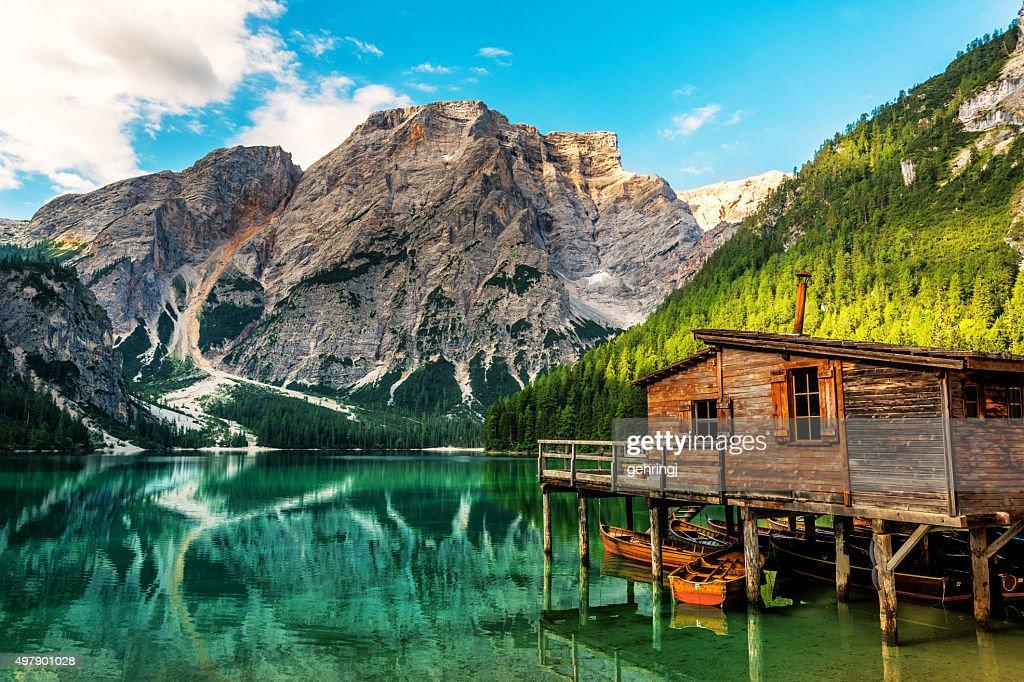 Lake Braies in South Tyrol in Summer