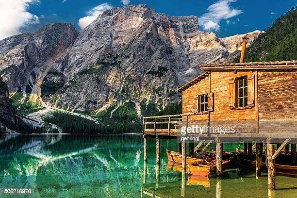 Lago di Braies (Pragsersee) in Sud Tirolo in estate