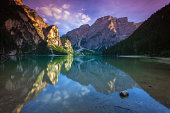 Lake Braies in the Dolomites