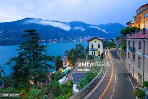 Lake Como at Como Italy Winding Road