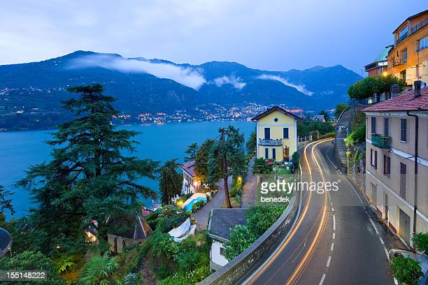Lake Como at Como Italy Winding Road