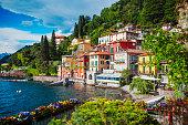 View of Varenna town at lake Como, Italy