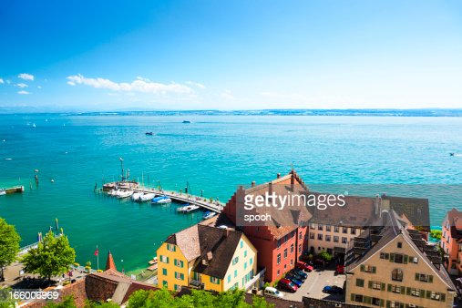 Lake Constance, Germany with Switzerland on a horizon