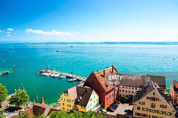 Lake Constance, Deutschland und Schweiz auf einem Horizont