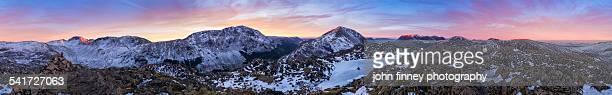 Lake District mountain sunset 360 degree panoramic