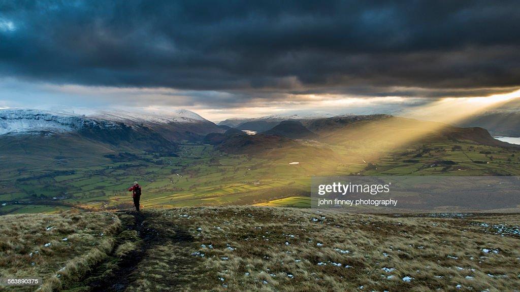 Lake District, shaft of light