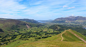 Lake District view from Catbells towards Keswick. More photos of the Lake District in this lightbox: