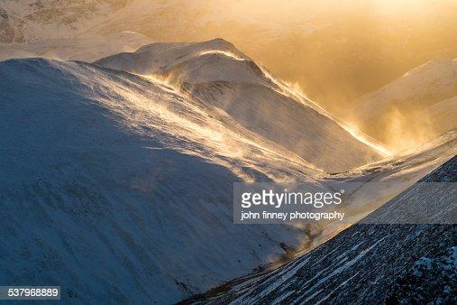 Lake District winter blizzards