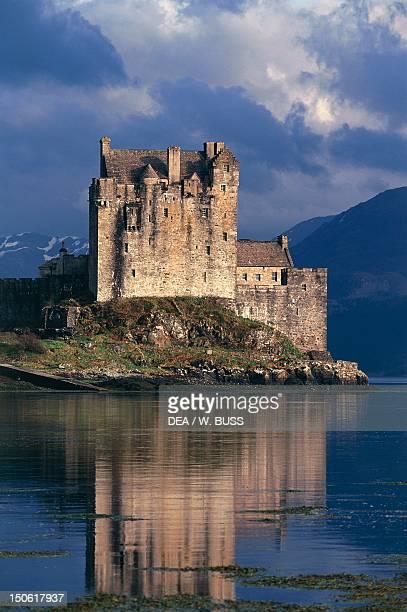 Lake Duich and Eilean Donan Castle near Edinburgh Scotland United Kingdom