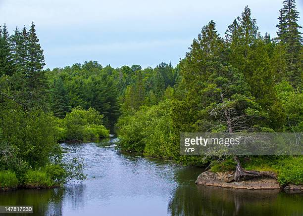 Lake Echo near MorinHeights is seen on July 3 2012 in the Laurentian Mountains region of Quebec Canada MorinHeights is primarily a tourist town...