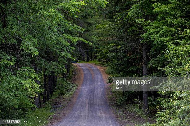 Lake Echo road near MorinHeights is seen on July 3 2012 in the Laurentian Mountains region of Quebec Canada MorinHeights is primarily a tourist town...