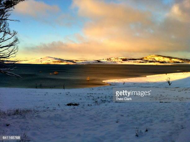 Lake Eucumbene dawn after heavy snow