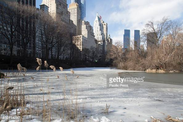 A lake freezes over in Central Park NYC Mayor De Blasio tells New Yorkers to stay indoors as temperatures continue to drop and New York City...