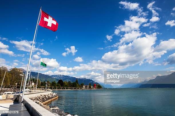 Im Vevey Genfer See, Schweiz