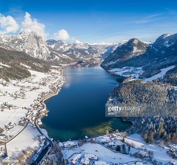 Lake Grundlsee, Winter Panorama, Austria