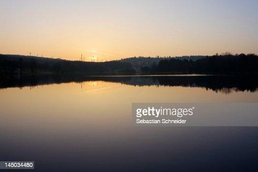 Lake 'Heisterberger Weiher' : Stock Photo