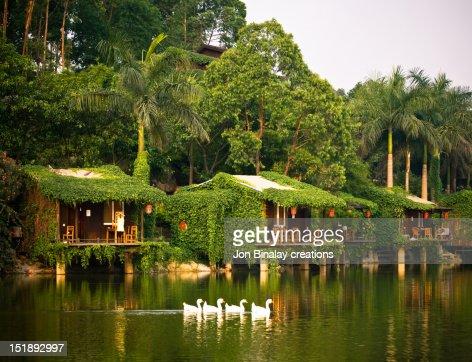 Lake houses : Bildbanksbilder