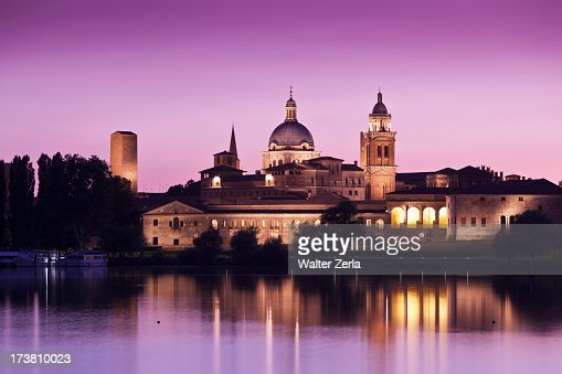 Lake in front of Palazzo Ducale : Stock Photo