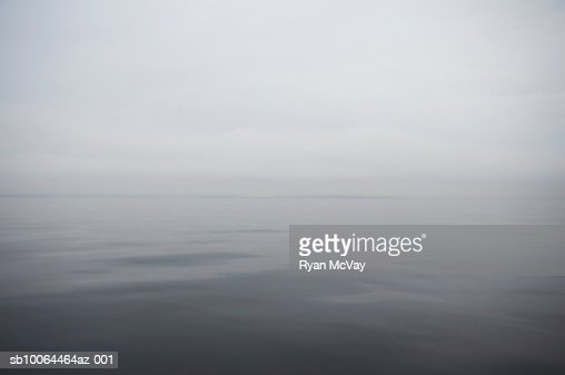 Lake in mist : Stock Photo