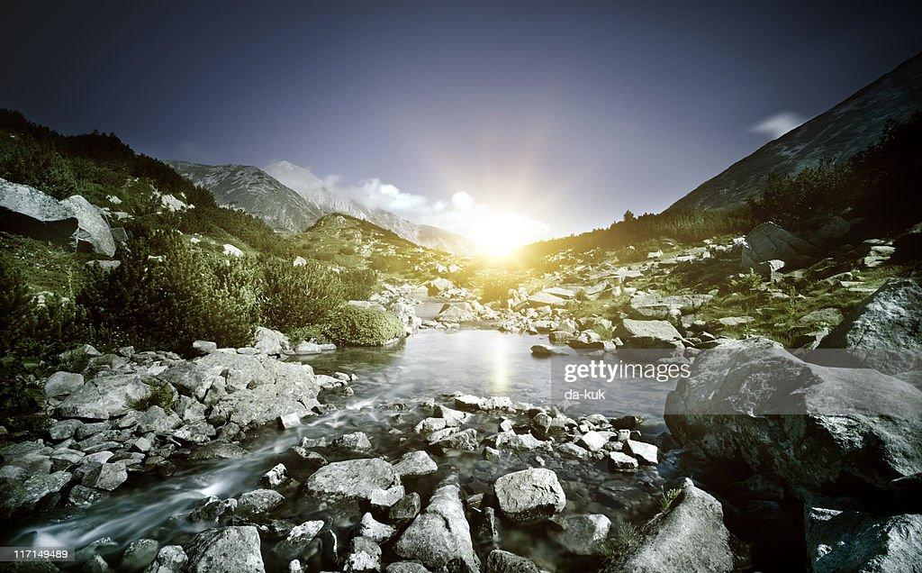 Lake in mountains : Stock Photo
