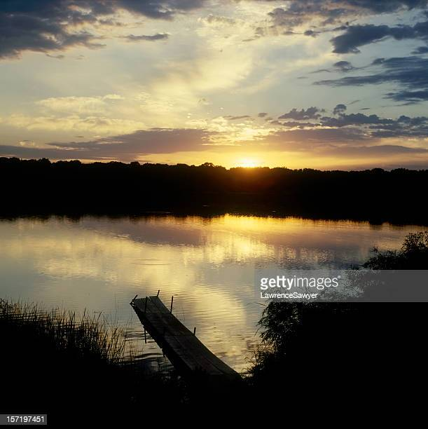 Lake in suburban St. Paul, Minnesota