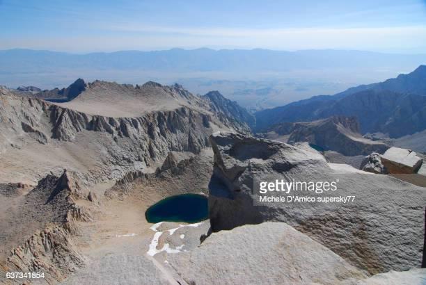 Lake in the barren granite landscape of the High Sierra