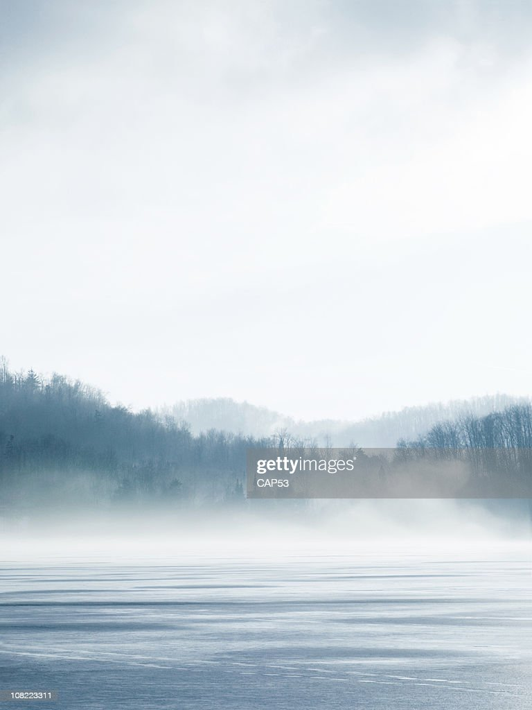 Lake On Winter : Stock Photo