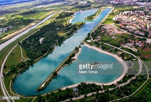 Lake Jarun from above