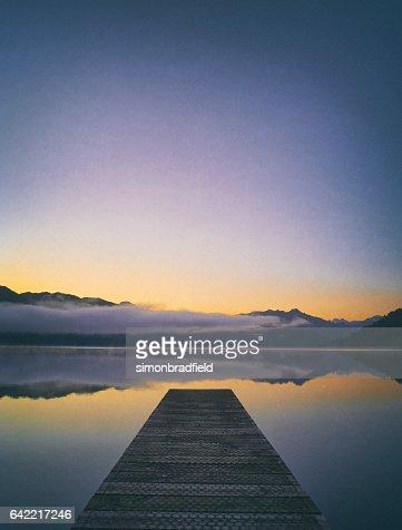 Lake Kaniere At Dawn, New Zealand