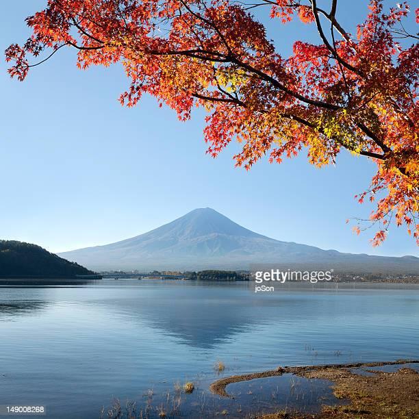 Lake Kawaguchiko and Mt. Fuji, (Fuji-hakkei)