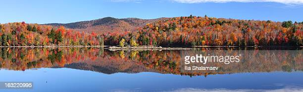 Lake Kent Panorama at the peak of foliage season