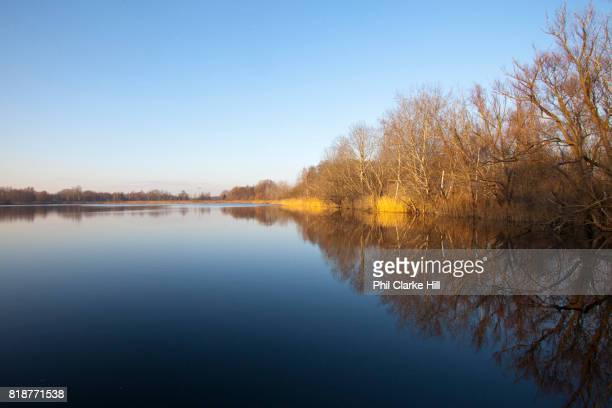 A lake / kettle bog in Uckermarkische Seen Natural park part of the The Feldberg Lake District Nature Park containing large lakes kettle bogs and an...