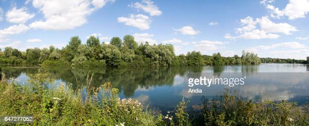Lake La Vieille Ballastiere in RecquessurCourse former gravel pit supplied by a
