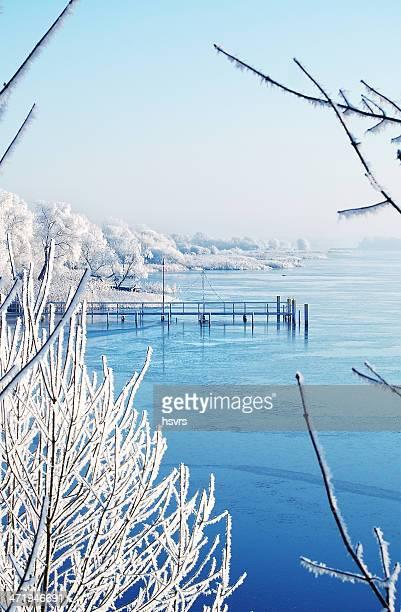 Lake Landschaft im winter Zeit
