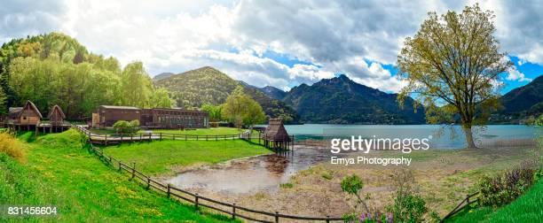 Lake Ledro in Trentino-Alto Adige, Italy