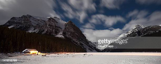 Lake Louise in moonlight, Banff in the Canadian Rockies, Canada