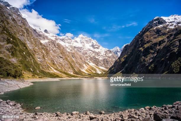 Lake Marian In New Zealand's Fiordland National Park