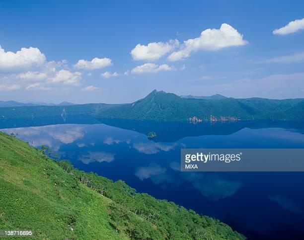 Lake Mashu and Mount Mashu, Teshikaga, Hokkaido, Japan