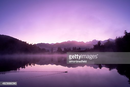 Lake Matheson And The Southern Alps At Dawn