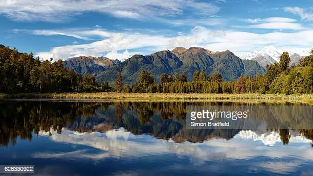 Lake Matheson Panoramic On New Zealand's South Island