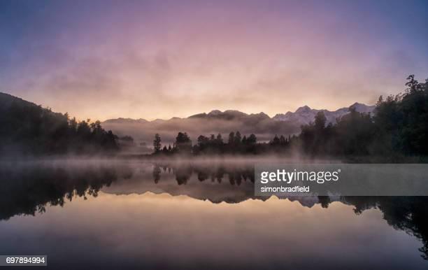 Lake Matheson Reflections On New Zealand's South Island