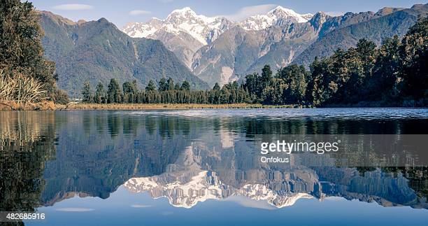 See Lake Matheson Reflections Panorama, Neuseeland