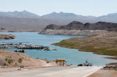 ACCESS* Lake Mead is seen during the Academy Of Country Music Chairman's Ride on April 4 2009 at the Echo Bay Marina in the Lake Mead National...