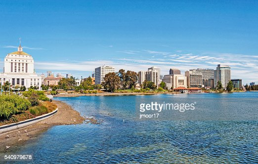 Lake Merritt Shore Line Views Downtown Oakland