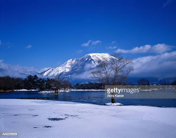 Lake Mishima and Ibuki Mountain