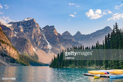 Lake  Moraine, Banff National Park, Alberta, Canada : Stock Photo