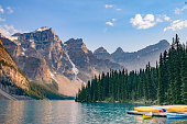 Lake  Moraine, Valley of the Ten Peaks, near Lake Louise, Banff National Park, Alberta, Canadian Rockies