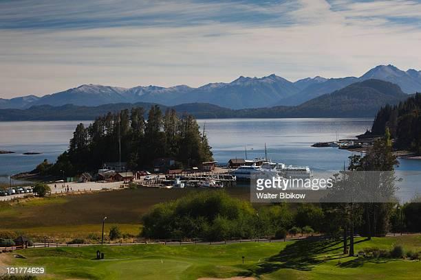 Lake Nahuel Huapi tourboats, Puerto Panuelo, Llao Llao, Lake District, Rio Negro Province, Patagonia, Argentina